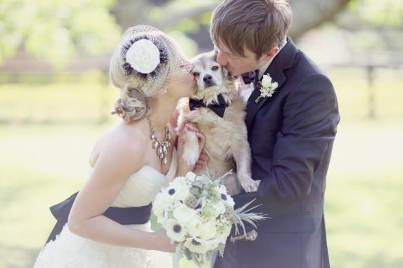 Bride Geri, Groom Zach and their dog
