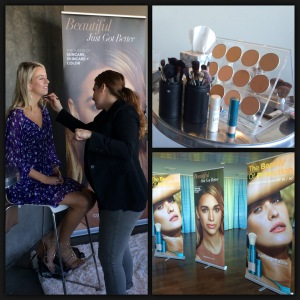 Celebrity makeup artist Julianne Kaye applying Colorscience makeup