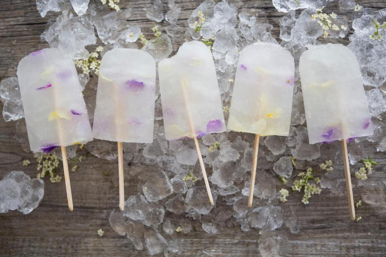 Elderflower & Edible Flower Popsicles
