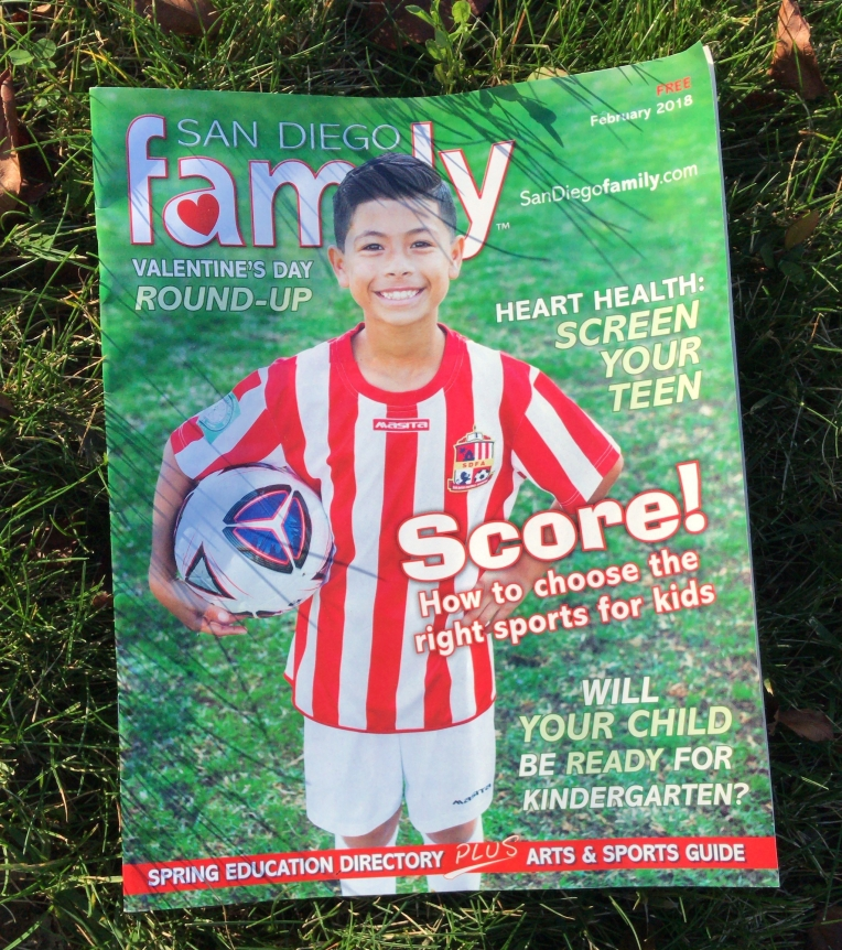February issue of San Diego Family Magazine