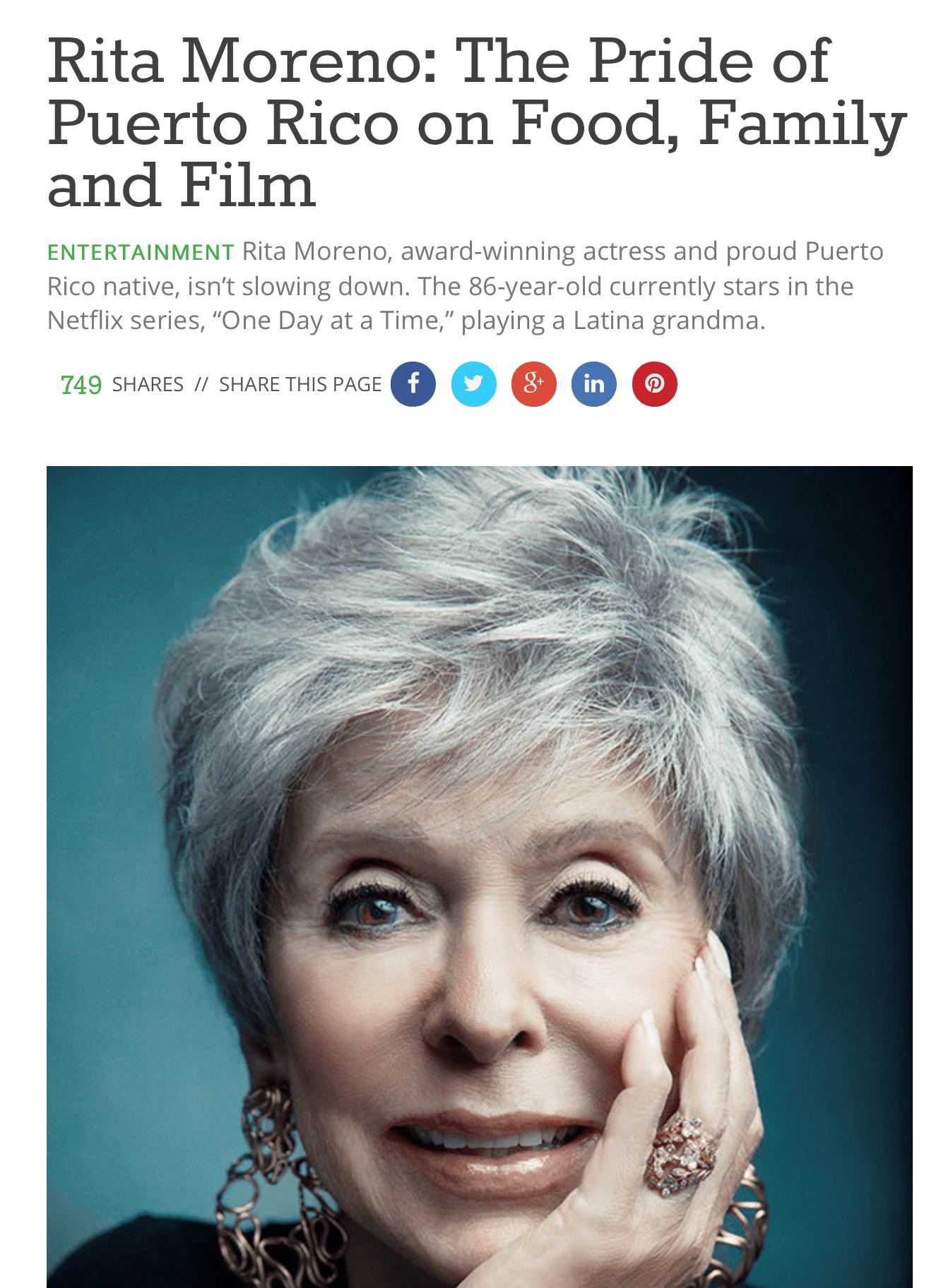 Rita Moreno article-Mediaplanet