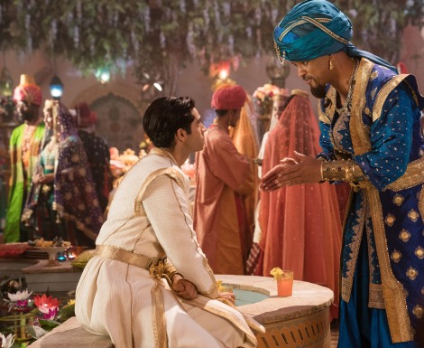 Mena Massoud is Aladdin and Will Smith is Genie in Disney's live-action ALADDIN, directed by Guy Ritchie.
